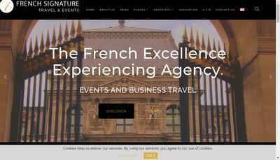 Site internet de French Signature Travel & Events