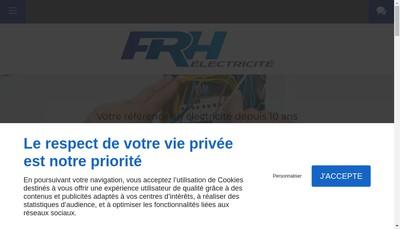 Site internet de FRH Electricite