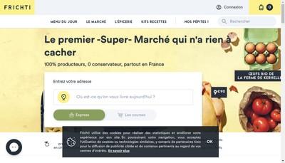 Site internet de Frichti