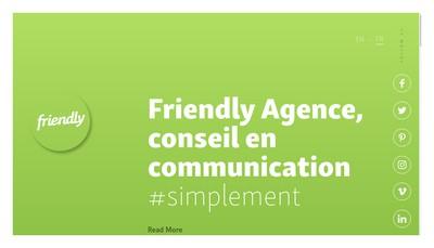 Site internet de Friendly Agence