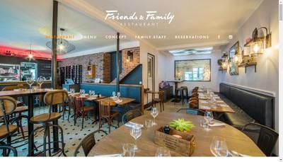 Site internet de Friends & Family Restaurant