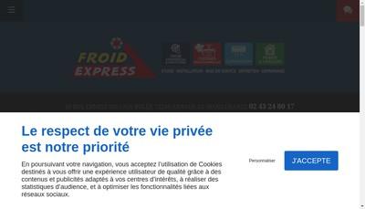 Site internet de Froid Express