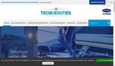 Site internet de Froid Routier Service