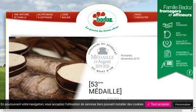 Site internet de Fromagerie Badoz
