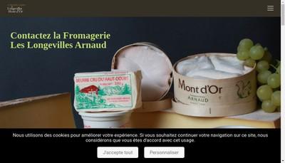 Site internet de Longevilles Mt d'Or Fromagerie Arnaud