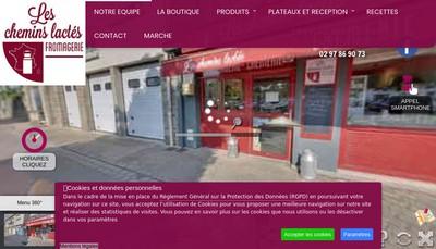 Site internet de Les Chemins Lactes