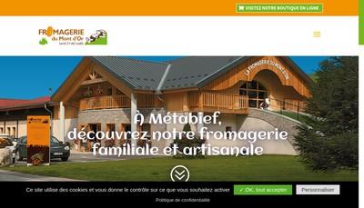 Site internet de Fromagerie du Mont d'Or