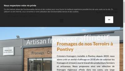 Site internet de Fromages de Nos Terroirs