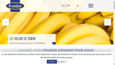 Site internet de Fruidor