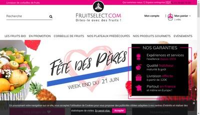 Site internet de Fruitselect