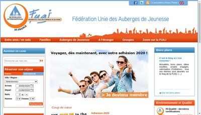 Site internet de Federation Unie des Auberges de Jeunesse