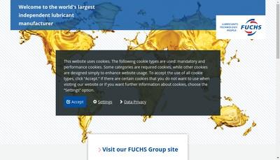 Site internet de Fuchs Lubritech SAS