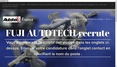 Site internet de Fuji Autotech France SAS