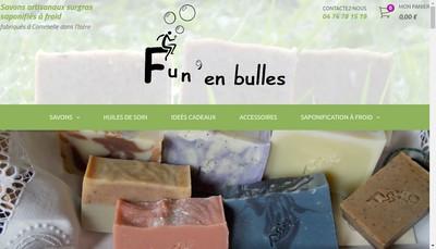 Site internet de Fun en Bulles Savons Naturels