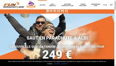 Site internet de Fun Parachutisme