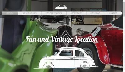 Site internet de Fun & Vintage Location