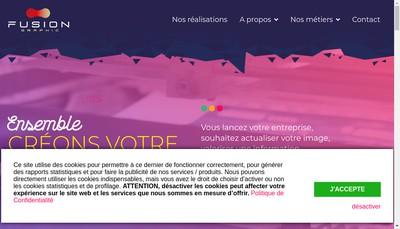 Site internet de Turquin Impression - Fusion Graphic 08
