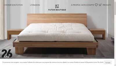 Site internet de Futon Boutique