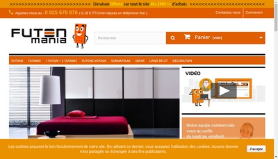 Site internet de Futon Mania