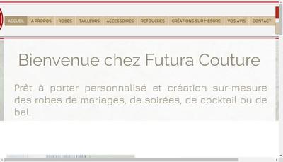 Site internet de Futura Couture
