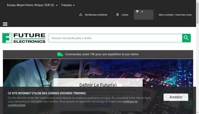 Site internet de Future Electronics