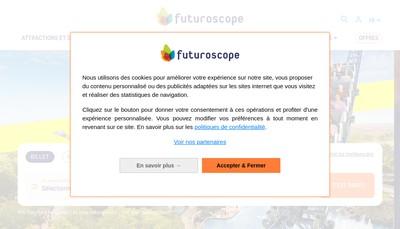 Site internet de SA Futuroscope Destination