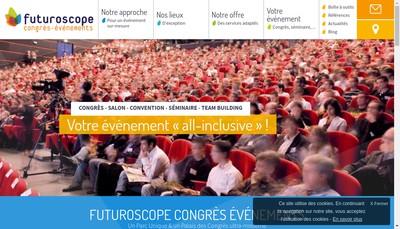 Site internet de SA d'Economie Mixte Locale du Palais des Congres du Futuroscope