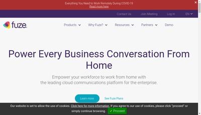 Site internet de Fuze Europe BV