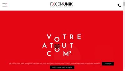 Site internet de Fx Com'Unik