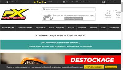 Site internet de Fx Motors