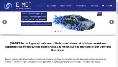 Site internet de G-Met Technologies