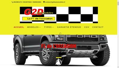 Site internet de G2D Automobiles