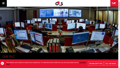 Site internet de Group 4 Securicor