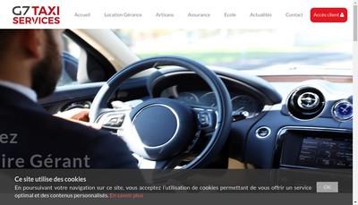 Site internet de G7 Taxi Service