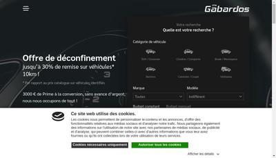 Site internet de SA Gabardos