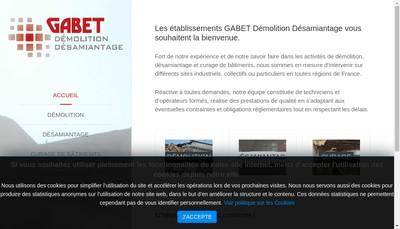Site internet de Gabet Demolition Desamiantage GDD