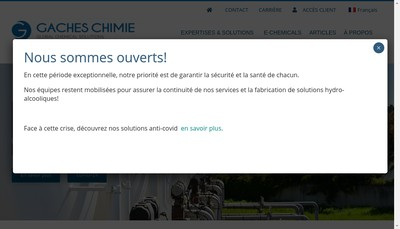 Site internet de Gaches Chimie SA