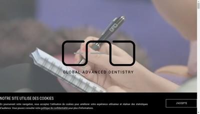 Site internet de Global Advanced Dentistry