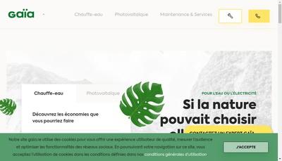Site internet de Gaia Energies Nouvelles