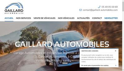 Site internet de Gaillard Automobiles