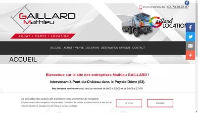 Site internet de Gaillard Mathieu
