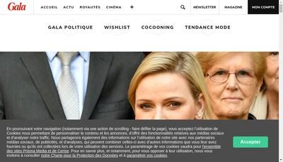 Site internet de Gala