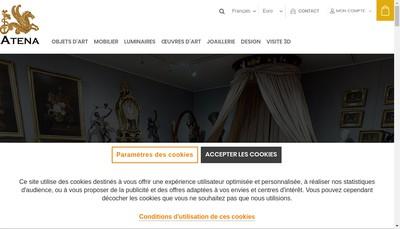 Site internet de Galerie Atena