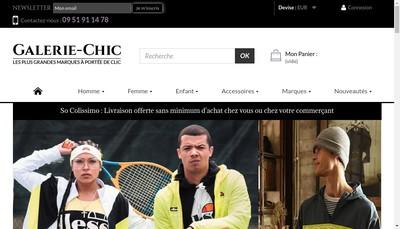 Site internet de Galerie Chic