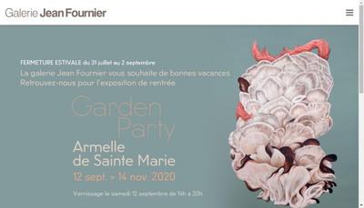 Site internet de Galerie Jean Fournier