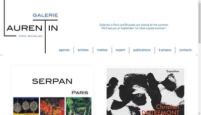 Site internet de Galerie Antoine Laurentin