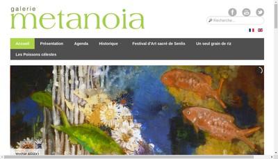 Site internet de Galerie Metanoia