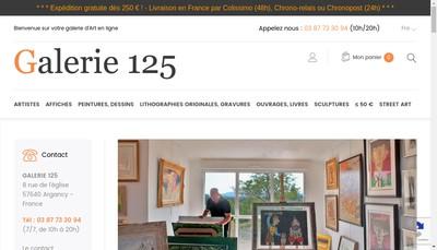 Site internet de Galerie 125