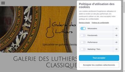 Site internet de Galerie des Luthiers