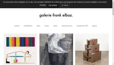 Site internet de Galerie Franck Elbaz